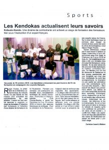 Invitation de nos instructeurs par la Ligue Camerounaise de Kendo – Kobudo